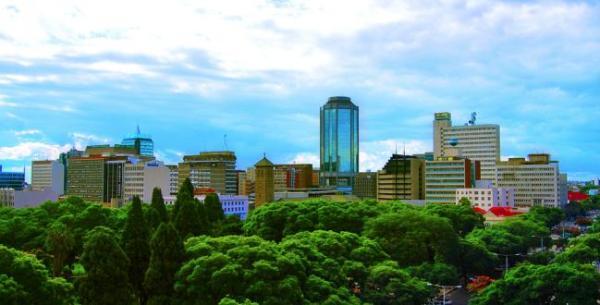 The Reserve Bank of Zimbabwe dominating the Harare skyline. Image credit Nehandaradio.com