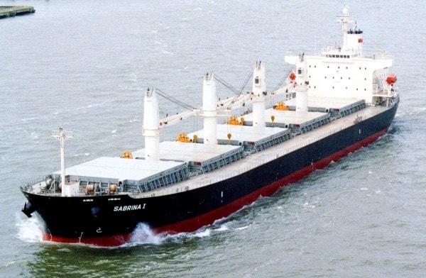 Sabrina I, a bulk carrier. Image credit MediaWiki