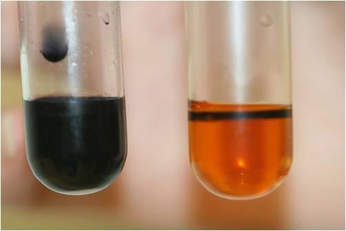The contents of tube A are to the right and those of Tube B above to the left. Image credit  sites.google.com