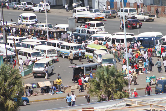 4th Street Bus Terminus Harare. Image credit Newsday.co.zw