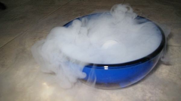 Dry ice has a number of industrial uses. Image credit MediaWiki
