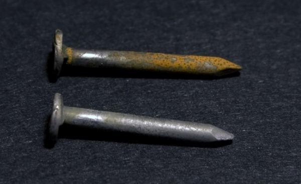 Rusting iron nails. Image credit corrosionist.com