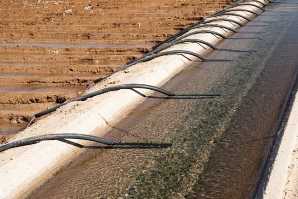 Siphons being used for irrigation. Image credit wonderopolis.org
