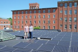 revision energy solar array on city building roof