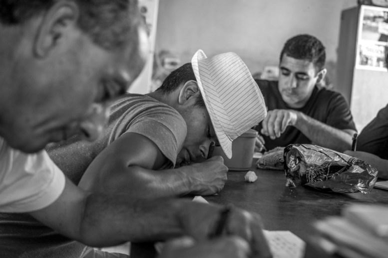 Juan, Gonzalo y Javier en uno de los talleres de formación.