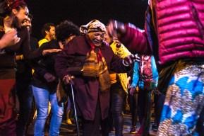 """Faustina Avelino, más conocida como """"Tía Tina"""". Una leyenda del Canbombe. Bailarina y Mama Vieja. En 2016 obtuvo el premio de Figura de Oro del Carnaval y fue declarada ciudadana ilustre de la ciudad de Montevideo."""