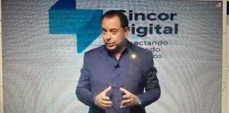 Alexandre Camillo na apresentação do Sincor Digital