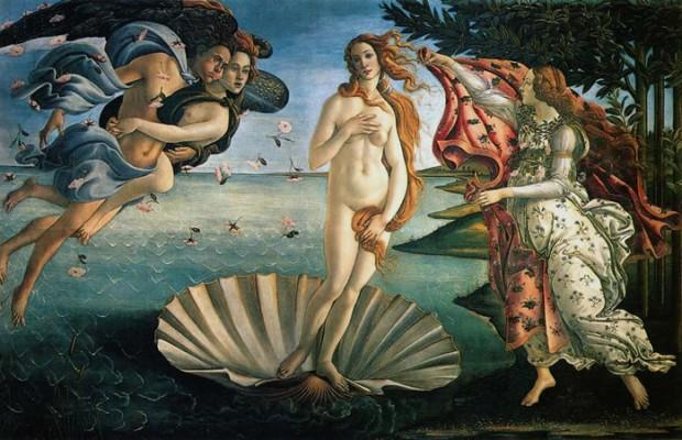 O Nascimento de Vénus, de Sandro Botticelli