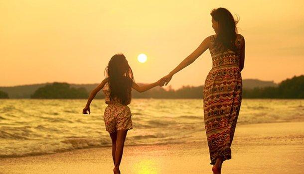 Quando sua mãe é sua amiga você se sente forte para enfrentar todo o peso do mundo