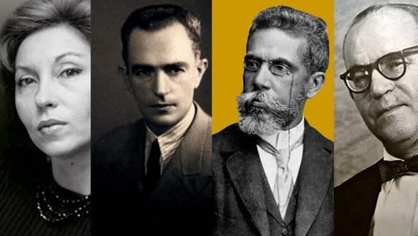 Clarice Lispector, Graciliano Ramos, Machado de Assis e Guimarães Rosa