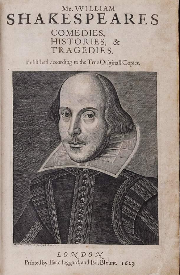 First Folio, William Shakespeare