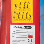 Placa de fabricante de grúa de autocarga