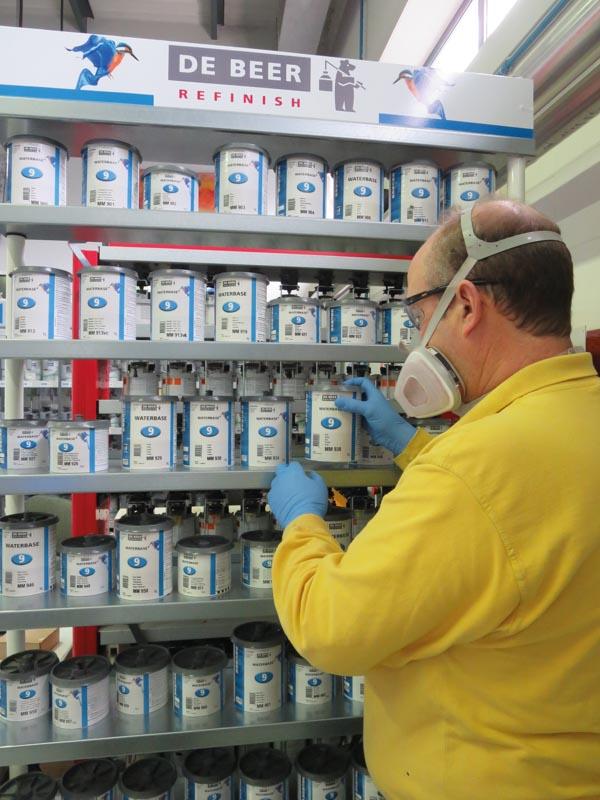 Selección de los productos de pintado