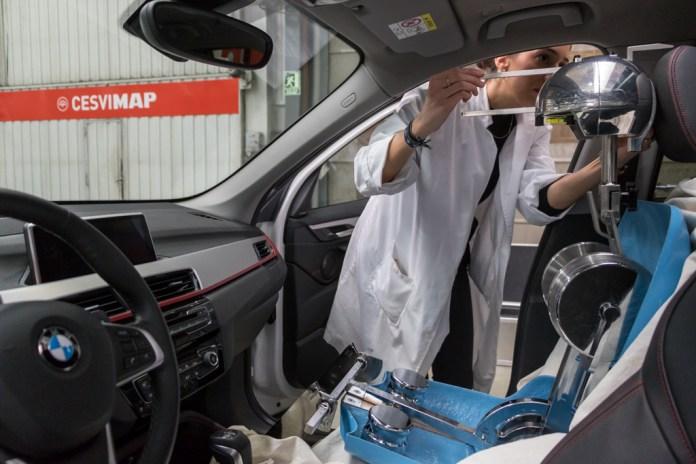 Mediciones realizadas en CESVMAP sobre un modelo de BMW