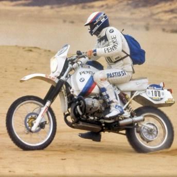 Humbert Auriol, ganador del París Dakar con la BMW GS