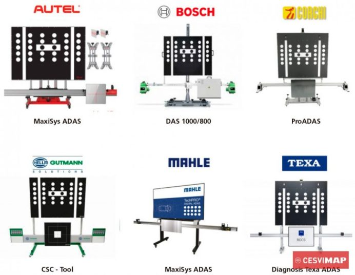 Diferentes equipos de calibración multimarca
