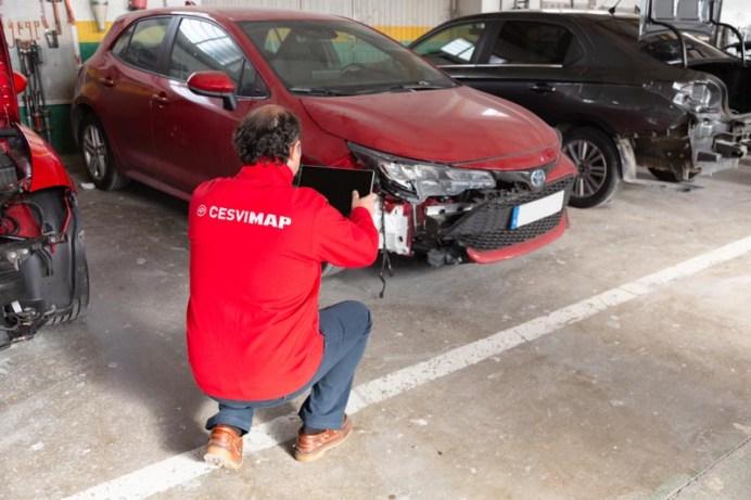 Valoración de un vehículo dañado.