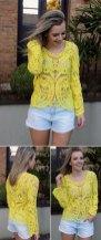 blusa de renda amarela 1