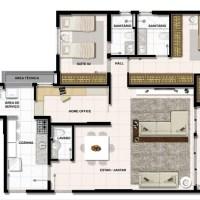 Bela suite com closet, espaço e aconchego especial