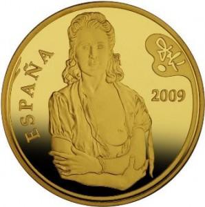 Moneda colección, 400€, óleo Galarina