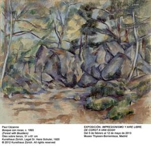 Paul Cézanne: Rocher dans le bois, um 1893