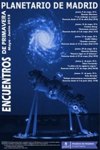 Planetario Madrid. Encuentros de Primavera 2013