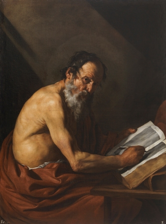 San Jerónimo atribuido a Ribera- Después restauración Prado