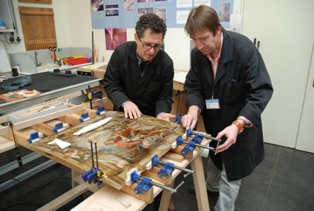 Así se restauran las tablas de Rubens en el Museo del Prado