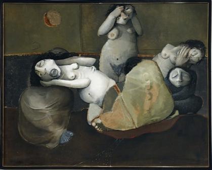 Los gritos 2. Luis Alberto Hernadez. 210 x 171.1972