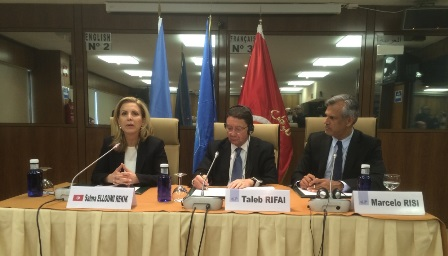 Foto1. Rueda de prensa de Turismo de Túnez y la OMT