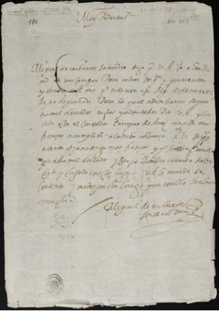 Miguel de cervantes manuscrito BNE