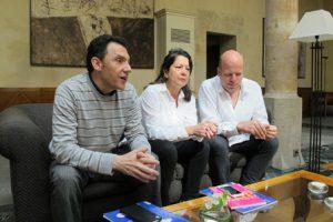 Encuentro con Alberto Mariñas, director, Lourdes Fernández, comisaria y artista Edwin van der Heide