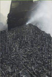 Fontela, Big War, 2016, técnica mixta sobre lienzo, 195x130cm