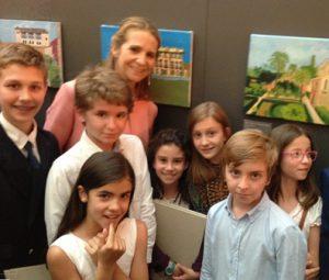 Infanta Elena con alumnos premiados Colegio Nuestra Señora del Recuerdo,2016