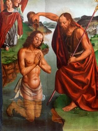 05. Bautismo de Cristo_Pedro Berruguete_Santa María del Campo 2