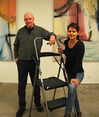 Sean y Liliane con escalera II
