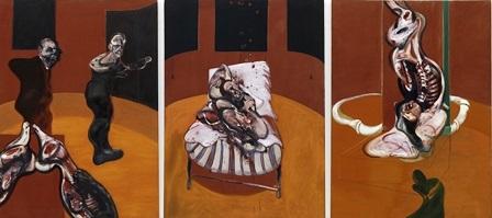 Three Studies for a Crucifixion. Triptico tres escudios para una crucifrixión Bacon