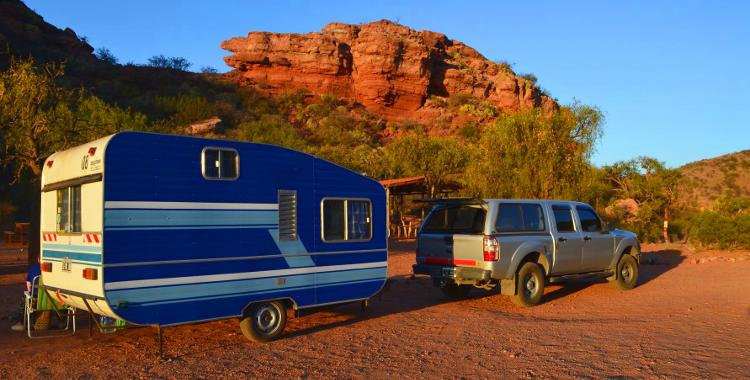 Camping agreste en el PN Sierras de las Quijadas, San Luis
