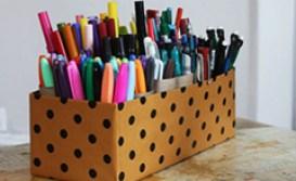 Reaproveitando materiais, é possível acabar com a desorganização no escritório - Crédito/Imagens: Reprodução