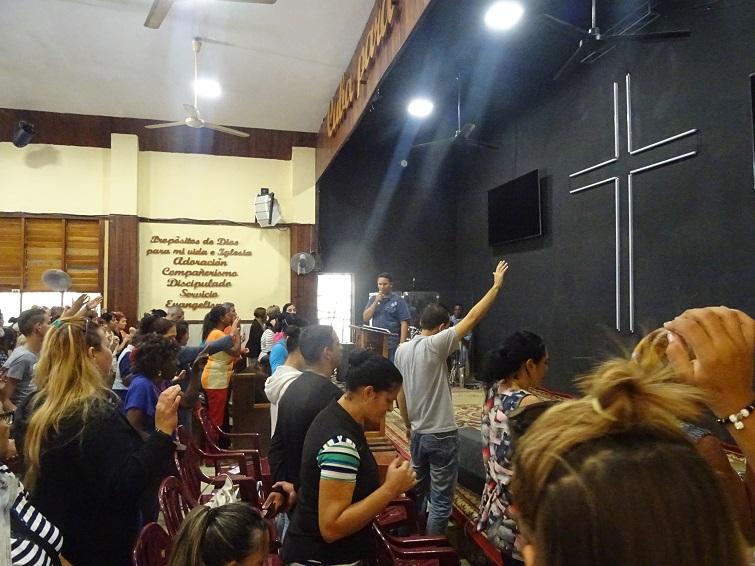Culto en la Liga Evangélica de Cuba / Foto: El Estornudo