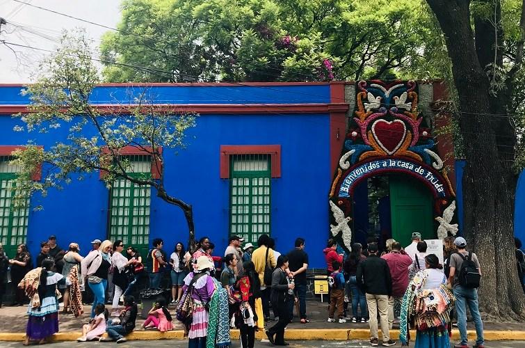 Casa de Frida Khalo en Coyoacán, México