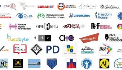 Medios y organizaciones que han firmado el comunicado contra el Decreto 370 en Cuba