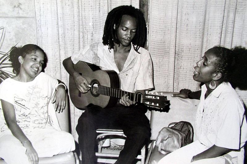 En1988, con Marta Campos y Xiomara Laugart / Foto: Cortesía del entrevistado