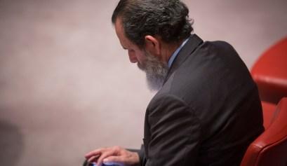 Rolando Prats durante una sesión del Consejo de Seguridad de las Naciones Unidas, 11 de febrero de 2016. Foto: Manuel Elías, Naciones Unidas. Cortesía del entrevistado.