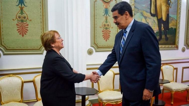 Michelle Bachelet de visita a Venezuela en calidad de alta comisionada de la ONU.