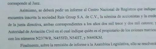 Extracto de la resolución del TEG del 12 de octubre de 2015.