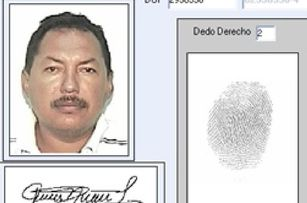 "Foto de la ficha policial de José Natividad Luna Pereira, ""Chepe Luna"", en El Salvador. Foto de Revista Factum."