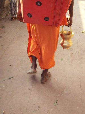 Peregrino em Omkareshwar