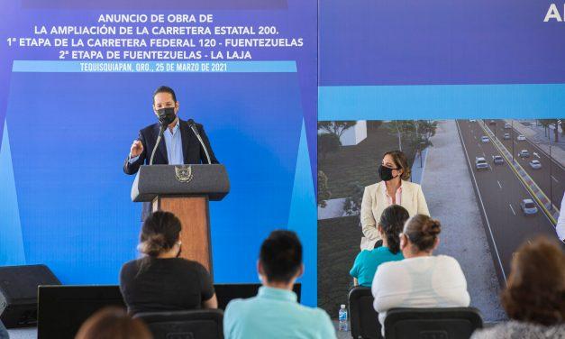 Invertirán 240 millones de pesos en la ampliación de la Carretera Estatal 200 en Querétaro