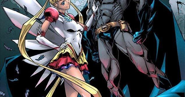 Fan Arte de Batman y Sailormoon. Semejanzas y diferencias entre el cómic americano de superhéroes y el manga nipón